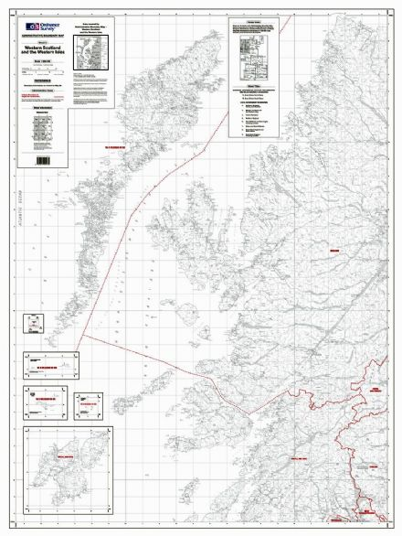 OS Administrative Boundary Map Local Government - Sheet 3 Western Scotland and Western Isles